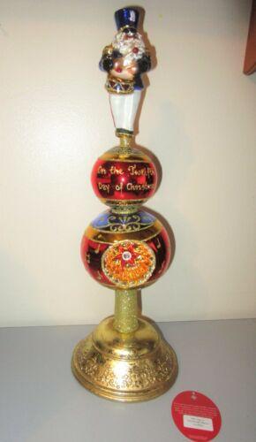 Radko 12 Days Christmas March Reflector Glass Tree Topper Finial 1019020 + Tag