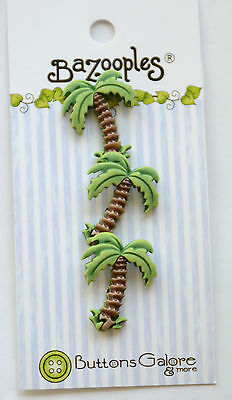 Palm Tree Shank Buttons   3D Bazooples   Buttons Galore   Tropical Beach