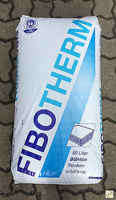 FIBOTHERM Blähton Trockenschüttung Estrichunterbau 1-5 mm 50 Liter (0,23 €/L)