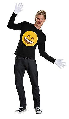 EMOJI SMILE KIT w/GLOVES EMOTICON COMICAL UNISEX HALLOWEEN COSTUME ACCESSORY  - Halloween Emoticon
