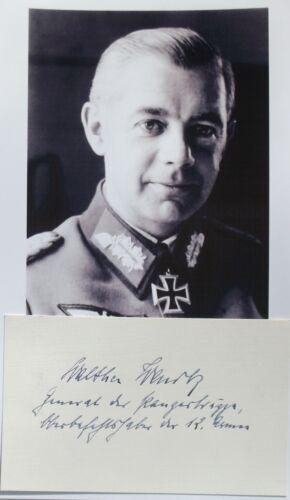 Walter Wenck German General World War II 12th Army Commander Autograph
