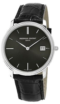 Frederique Constant Slimline Men's FC-220NG4S6 Quartz Black 37mm Watch