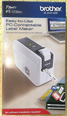 Brother Pt-1230pc P-touch Label Maker Thermal Transfer Pc Connectable New