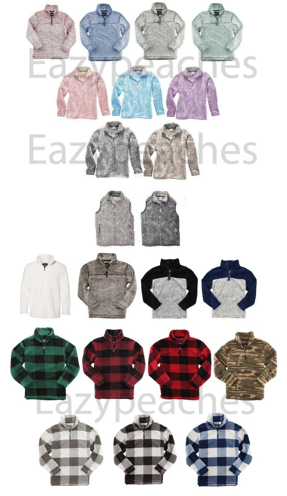 Sherpa Fleece, Peaches, Sizes XS-2XL, Women's, Men's, Quarte