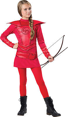 Warrior Jägerin Tween Mädchen Kostüm Katniss Bogenschütze Halloween Rotes - Jägerin Kostüm Mädchen