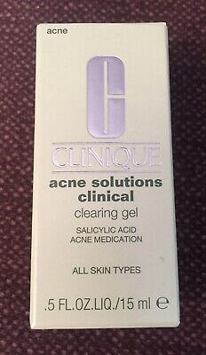 Clinique Acne Solutions Clinical Clearing Gel .5 Oz./15ml Full Size - New In Box