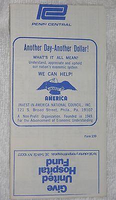 Pennsylvania Railroad Timetable February 6, 1972 Princeton/Philadelphia