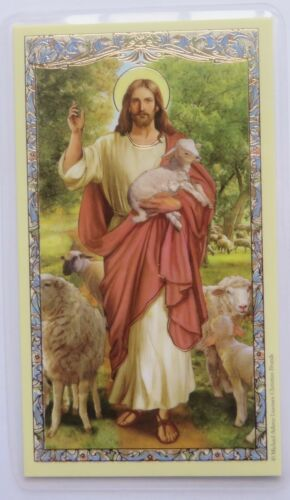 Psalm 23 - 23rd Psalm - Christ the Good Shepherd - Laminated Holy Card