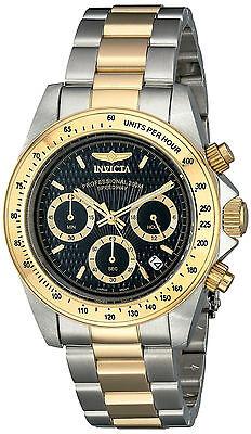 Invicta Reloj Oro Plata Gold Silver Crystal Pulsera Bracelet Hombre Man Watch