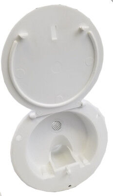 rv trailer Polar White Gravity Water Hatch Fill Dish Lockable - Plastic 370 A 2 ()