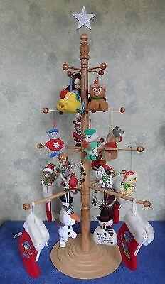 Homemade Hardwood Recess Ornament Display Tree For Christmas or Anytime