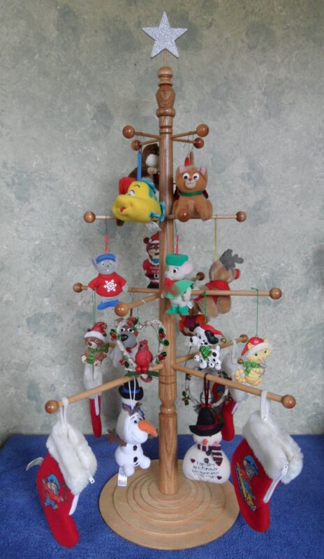 Homemade Hardwood Holiday Ornament Display Tree For Christmas or Anytime