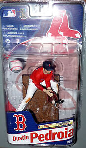 McFarlane MLB Series 27 DUSTIN PEDROIA Boston Red Sox Baseball Figure New Sealed