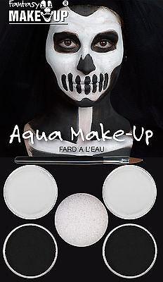 Halloween Scary Dracula Black & White Make Up Kit Skeleton #Fancy Dress Horror