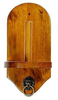 Wall Mount Pool Table Cone Chalk Holder Oak  W/O Chalk - Billiards