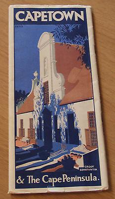 "VTG ca 1930 TRAVEL Brochure/Booklet~""CAPETOWN & The CAPE PENINSULA""~Africa~MAP~"