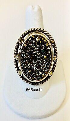 "Brighton ""Crystal Rocks"" Ring with Metallic Crystals  - Size 9 - NWT"