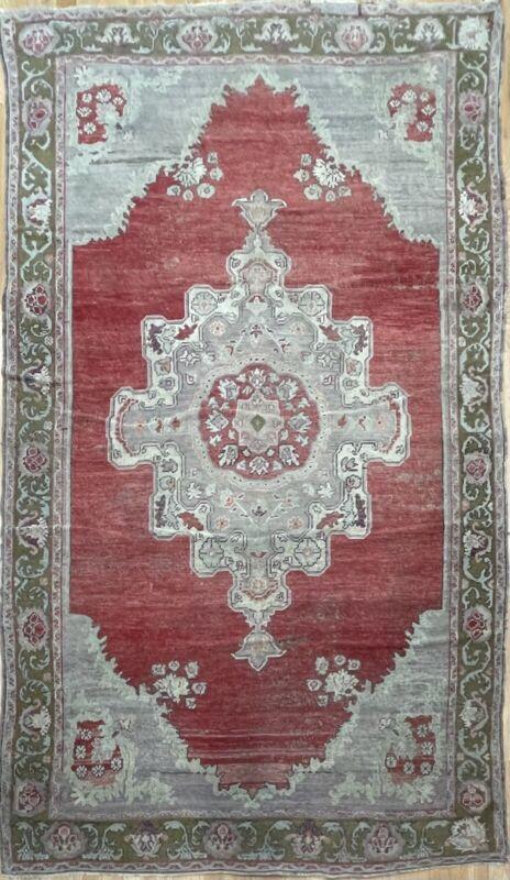 Opulent Oushak - 1910s Vintage Turkish Rug - Tribal Carpet - 5.3 X 9 Ft.