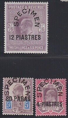 """BRITISH LEVANT 1902-5 sel.to 12 pi on 2s6d""""SPECIMEN""""opts-mint hinged"""