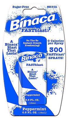Binaca Fast Blast Breath Spray - 6 x BINACA FASTBLAST (peppermint) -  Fresh Breath Spray Blasts Away Bad Breath