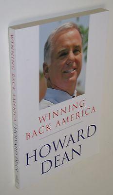 New 1St 1St  Winning Back America   Howard Dean Bio For Presidential Race