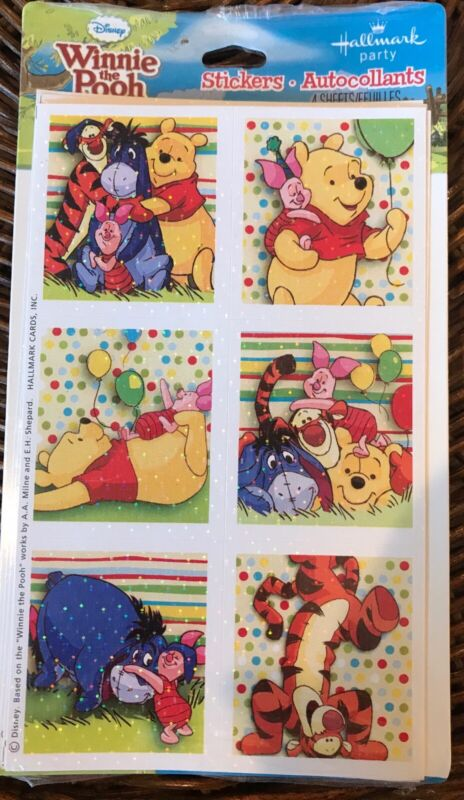 Winnie the Pooh-Party Supplies-Prismatic Stickers 4 sheets