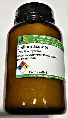 Sodium Acetate 100.1 Anhydrous Ultrapure Analytical Reagent Acs 125g