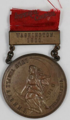 1900 Shriners. Imperial Session Washington DC. Medal. MR005