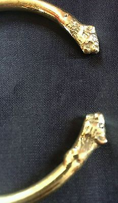 Stunning 22 Ct. GOLD LOOK CHUNKY BRASS Lion Sikh Hindu Kara Ajustable Size L3
