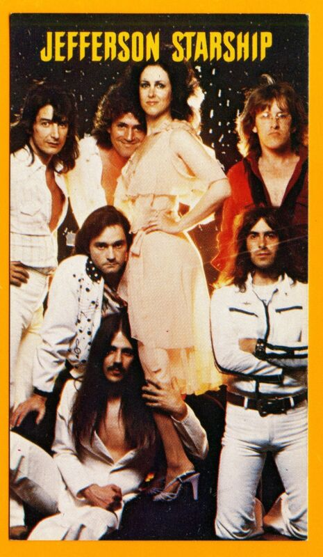 JEFFERSON STARSHIP 1979 Calendar Card; Grunt Records Official Promo Card