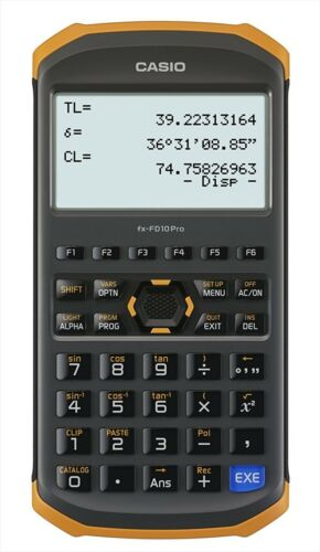 CASIO fx-FD10 Pro Civil Engineering & Surveying Calculator NEW F/S from Japan