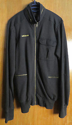 Adidas Jacket Tracksuit Mens Vintage Brown S Size Rare Model