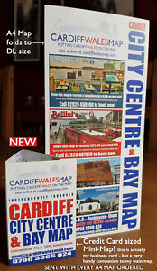 Cardiff Visitor Street Map  - City Centre and Bay