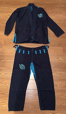 Sanabul Jiu Jitsu Gi Blue/Blue Training Uniform Pants and Jacket Top Size A1