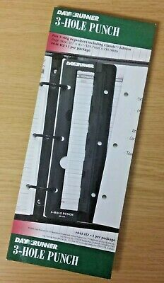 Day Runner 3-hole Punch 041-112 For 3-ring Organizers Page Size 5 8 New