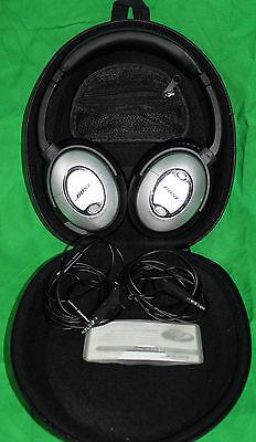 Bose Quiet comfort QC 15 mit Noise canceling Kopfhörer QC15 **akzeptabel** (Bose Qc 15)