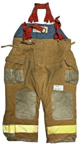 52x27 Janesville Lion Brown Firefighter Turnout Bunker Pants w/ Suspender  P1295