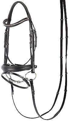 Harry's Horse Trense Soft Crystal, Leder, schwarz, Gr. Full/Warmblut, Strass NEU