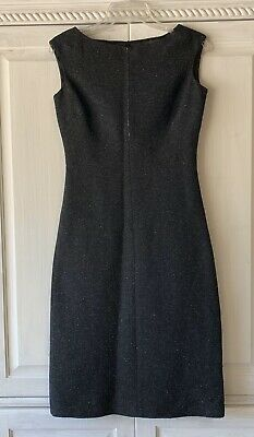 BCBGMAXAZRIA Wool Midi Dress Womens Size 4 Black A-Line