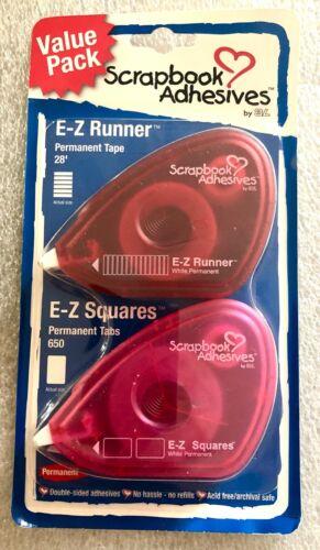 Scrapbook adhesives - EZ Runner & EZ Squares Dispenser Combo 28ft Value Pack