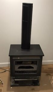 Gas fireplace heater - antique wood stove style