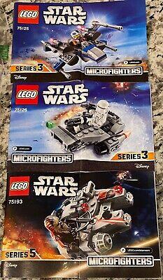 LEGO STAR WARS - MICROFIGHTERS LOT - mini Millennium Falcon, Snowspeeder & X-Win