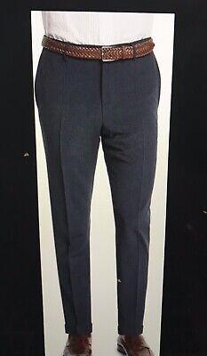 Incotex Slowear Brand Benson navy wool/silk pants t $475 sz 38 seersucker