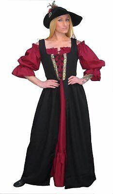 RENAISSANCE MEDIEVAL PIRATE WENCH BODICE SKIRT COSTUME IRISH OVER DRESS  -