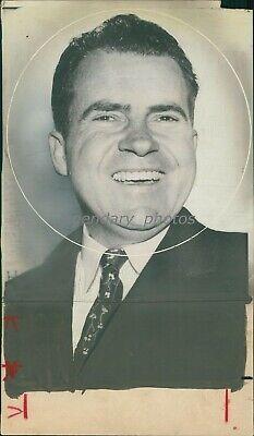 1956 Portrait Of Vice President Richard Nixon Original News Service Photo - $19.99
