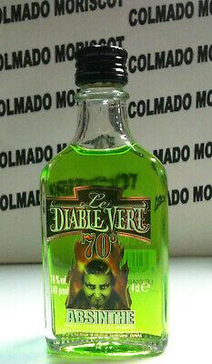 ABSENTA LE DIABLE VERT 4cl 70% miniatura mignonette minibottle flaschen ABSINTHE