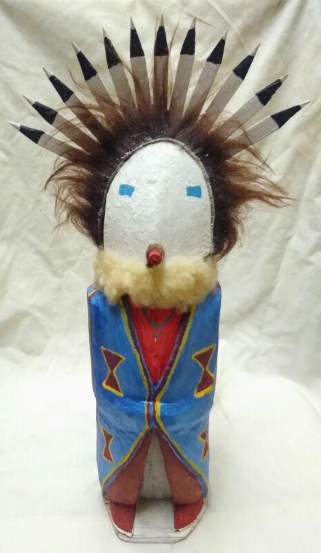 Navajo Carved Yei Bei Chai Dancer Folkart Signed Yazzie