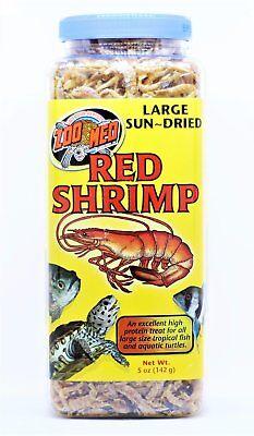 Sun Dried Large Red Shrimp Fish Oscar Reptile Turtle Food Zoo Med 5oz