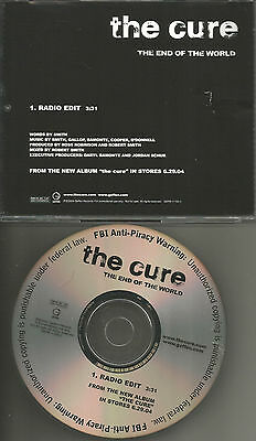 THE CURE End of the World w/ RARE EDIT PROMO DJ CD single 2004 USA MINT