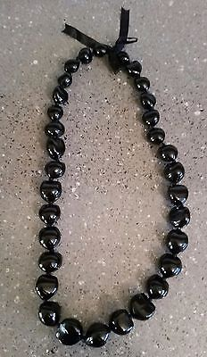 "Hawaiian Kukui Nut Black Shell 32"" Necklaces - Brand New"